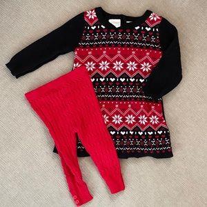 Koala Kids Sweater Dress w/sweater leggings